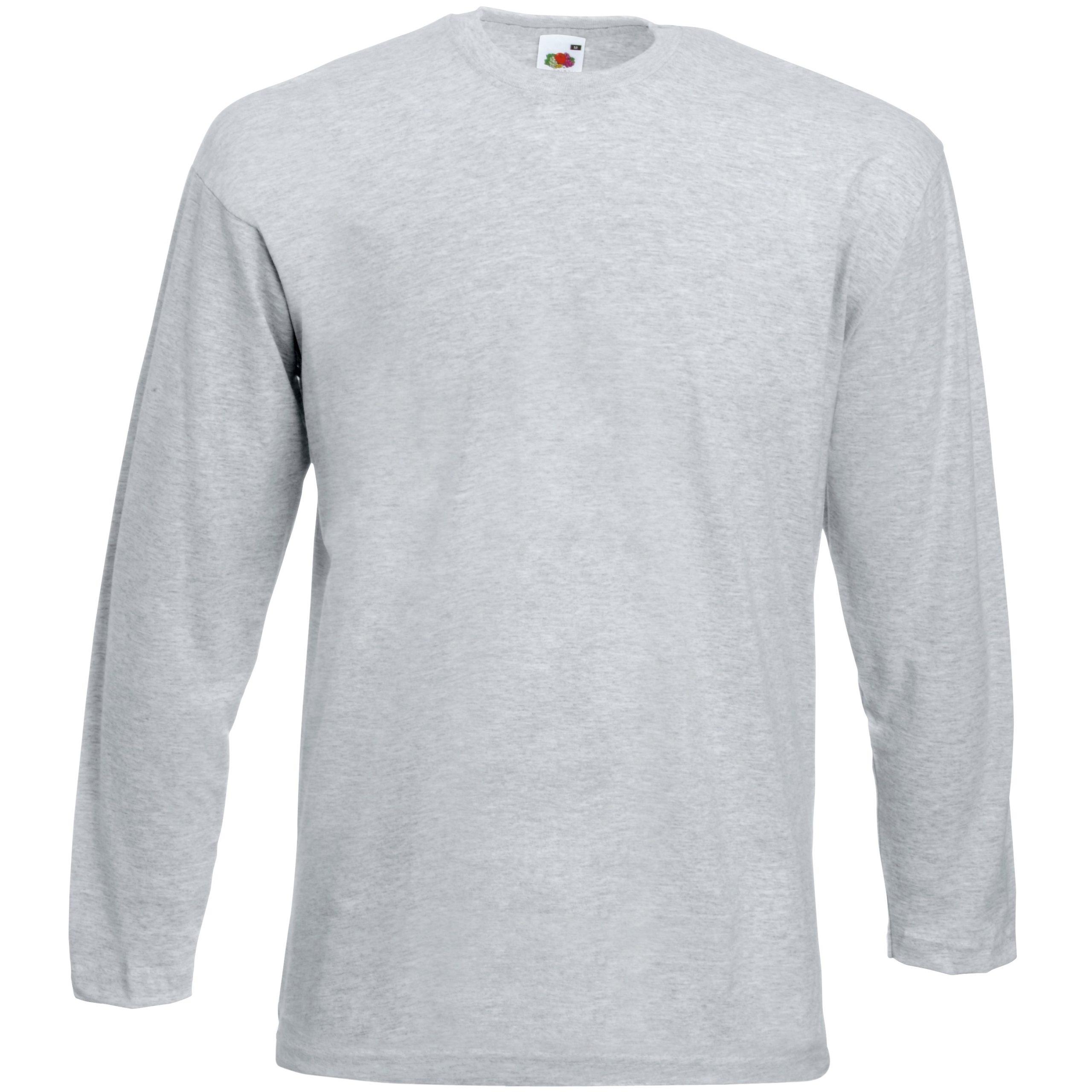 FOTL Long Sleeve Baseball T-Shirt Colour=White//Deep Navy Size=L