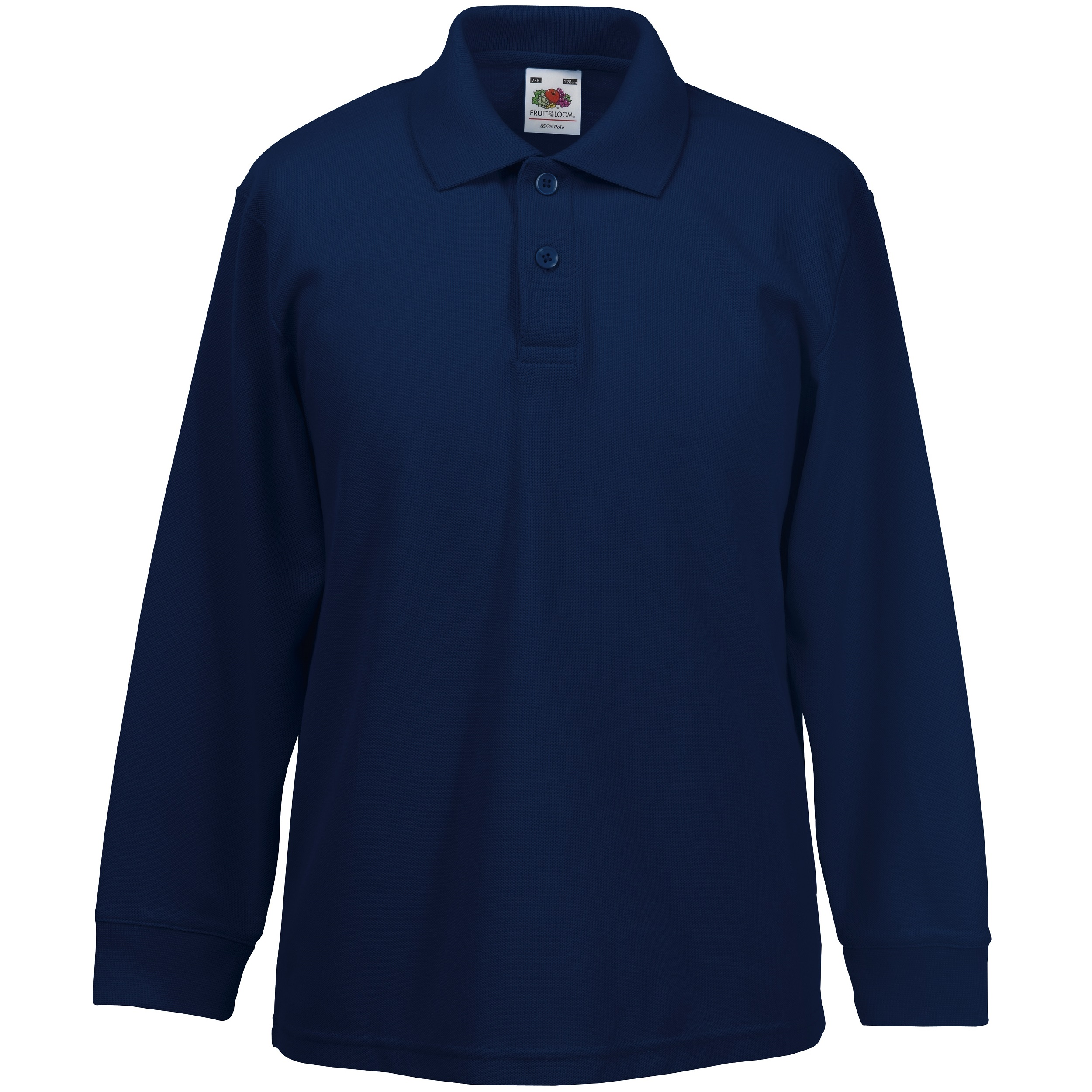 Ss320 Kids Long Sleeve 65 35 Polo Gdb Manufacturing