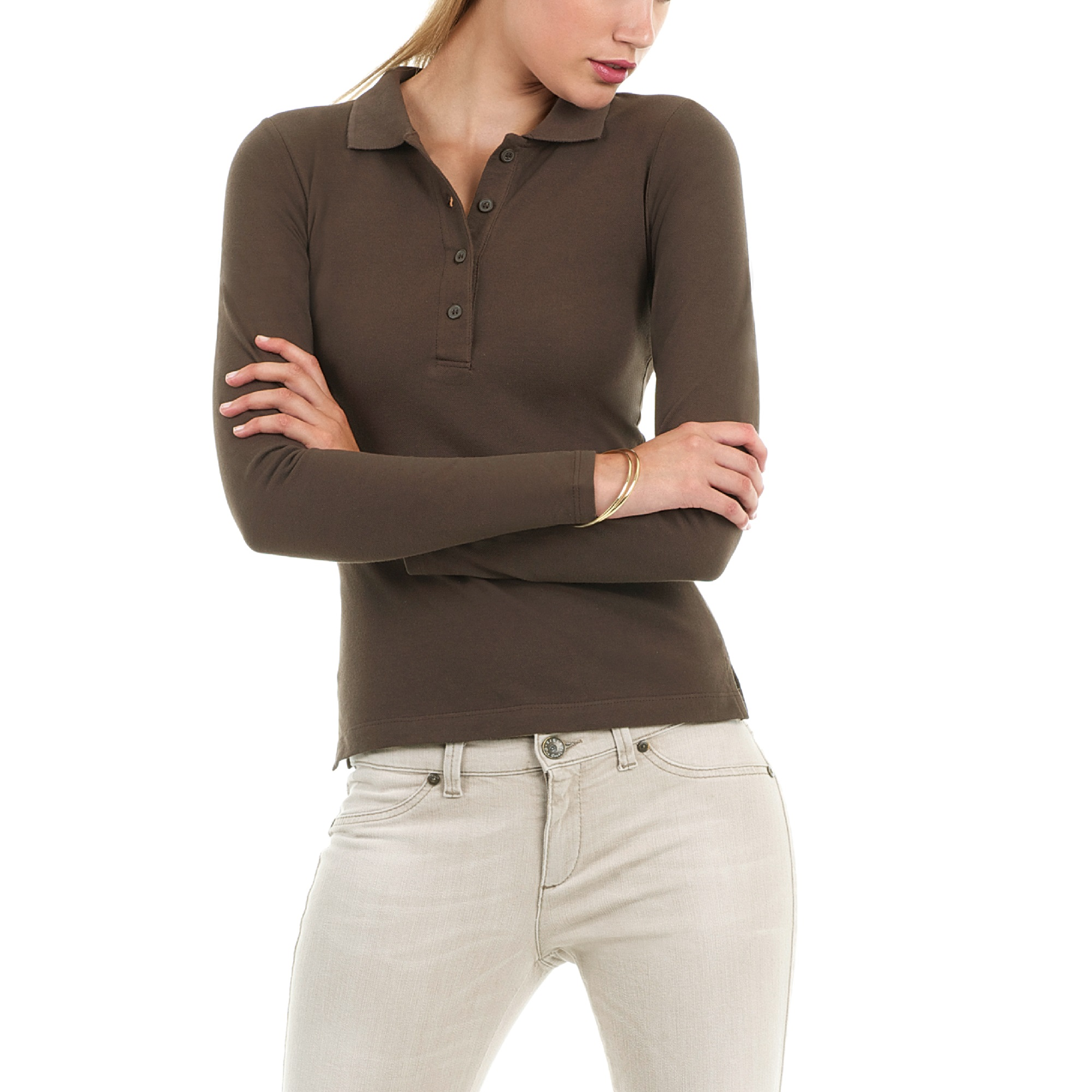 women's long sleeve knit polo shirts Shop Clothing & Shoes Online