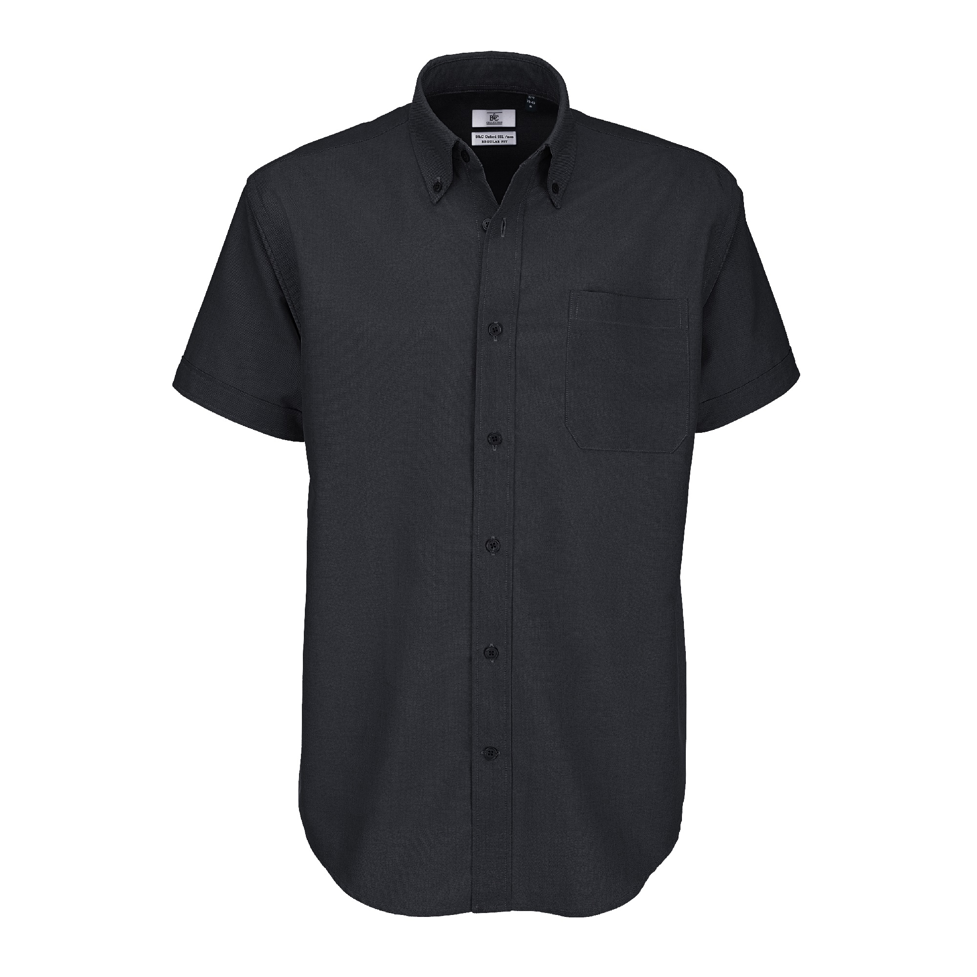 Ba708 oxford short sleeve men gdb manufacturing for Mens black short sleeve dress shirt