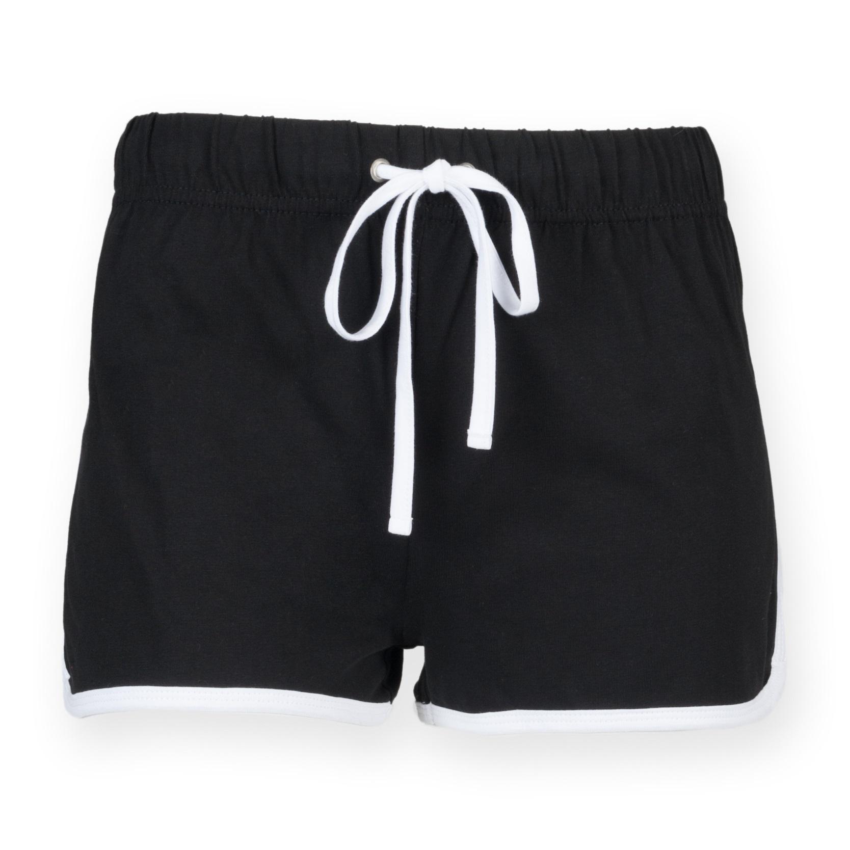 black retro shorts
